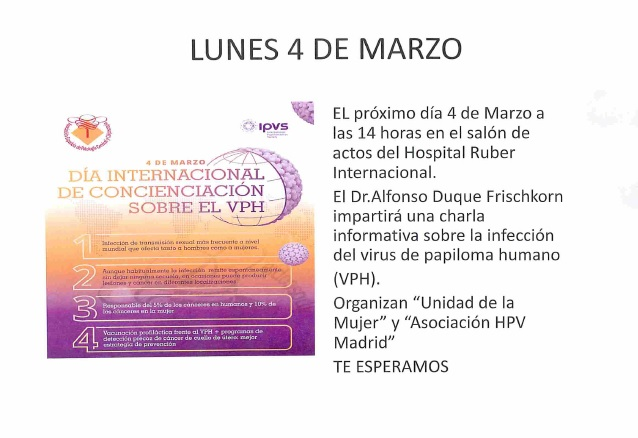 Jornada sobre el VPH en el Hospital Ruber Internacional